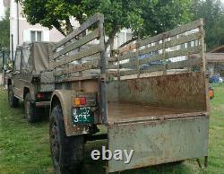 Remorque militaire bachée 1,5tonne Tracteur Bois Jeep 4X4 Peugeot P4 Gmc Dodge