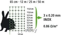 Réseau de Lapin 50 M Hauteur 65 cm Vert Pique Doubles Clôture Barrière Filet