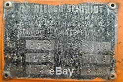 SCHMIDT Lame à Neige Chasse-Neige Type E5,2 Bj 1977