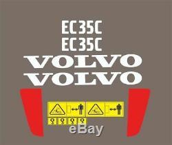 Set complet autocollant / adhésif / autocollant pour pelle Volvo EC35C