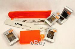 Stihl Ensemble Guide Rail 3003 000 5217 45cm 1,6 3/8 + Boîte Protection 5 Chaine