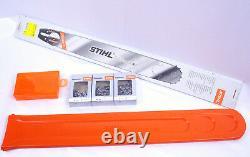 Stihl Guide Rail 6053 Boîte Protection 3 Chaînes Pleine Burin Ensemble Pour 044