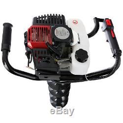 TARIÈRE Thermique essence 2,18 HP 52CC + 3 sabots de forage (100 150 200mm)