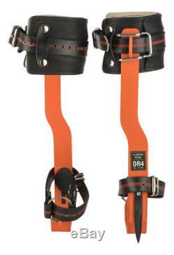 Treeup Crampons Dr 4.0 Orange Griffes pour Arbre Aides D'Escalade Arbre Forst