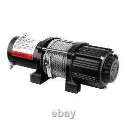 Treuil 4X4 Treuil Électrique 12V Quad 2040 Kg 1000 W Câble Acier 12 5 M 5 5 Mm