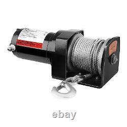 Treuil 4X4 Treuil Électrique 12V Quad 907 Kg 750 W Câble En Acier 15 M 4 Mm