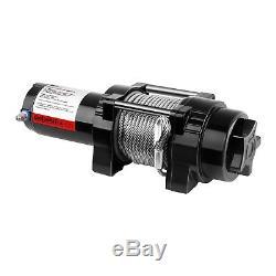 Treuil 4x4 Treuil Électrique 12V Quad 1590 Kg 1000 W Câble Acier 15 m Ø 5,5 mm