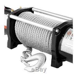 Treuil 4x4 Treuil Électrique 12V Quad 4310 Kg 4000 W 8 Tonnes Câble Acier Poulie