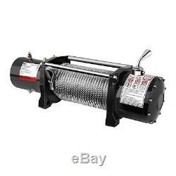 Treuil 4x4 Treuil Électrique 12V Quad 4310 Kg 4000 W Câble Acier 28 m Ø 9,5 mm