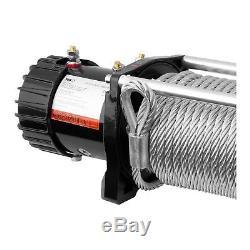Treuil 4x4 Treuil Électrique 12V Quad 6136 Kg 4500 W Câble Acier 28 m Ø 9,5 mm