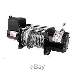 Treuil 4x4 Treuil Électrique 12V Quad 7692 Kg 5500 W Câble Acier 26 m Ø 12,5 mm
