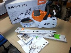 Tronçonneuse batterie. STIHL MSA 200 C-BQ. Stihl Akku Motorsäge MSA 200 C. BQ