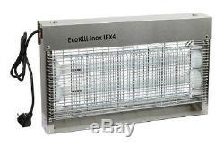 Tueur Mouche Ecokill Acier Inox IPX4 Électrique Lutte contre Insectes 299935