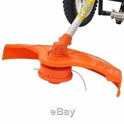 VidaXL Débroussailleuse pour jardin à 2 temps à roues 1,9 kW 52 cc 2,6 ch
