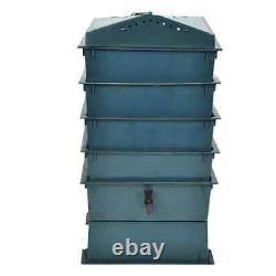 VidaXL Lombricomposteur 4 Plateaux Vermicomposteur Poubelle Bac à Compost